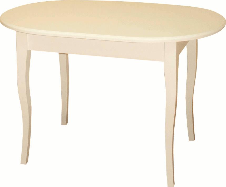Стол слоновая кость, кухонный, овал, дерево (арт. М4250)