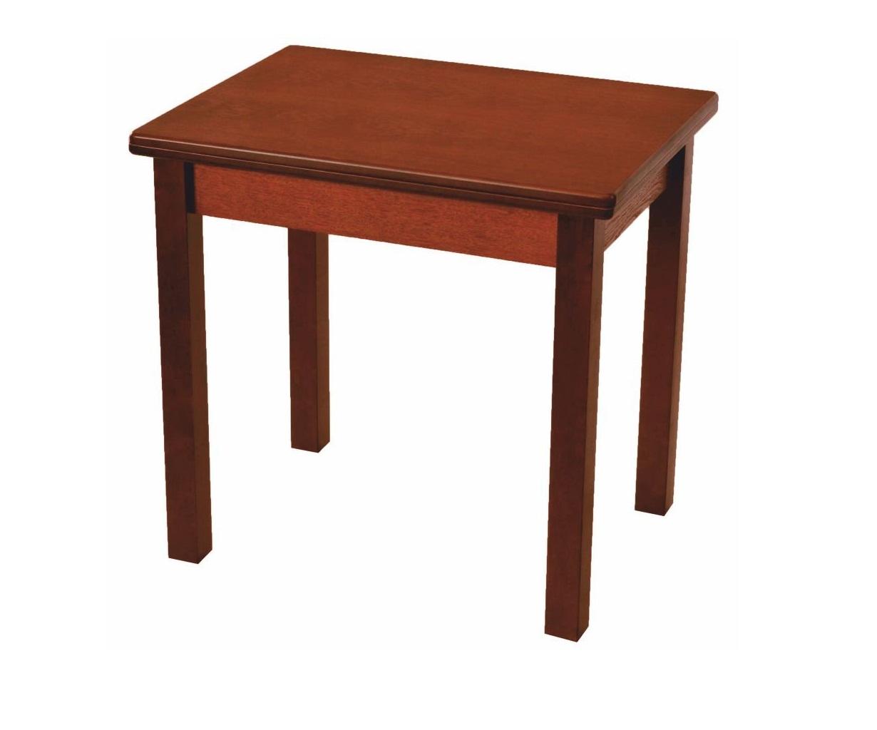Стол для маленькой кухни 80х60 см., коньяк, дерево (арт. М4255)