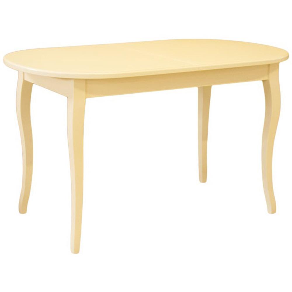 Недорогой большой овальный стол, слоновая кость 130х79 см. (арт. М4413)