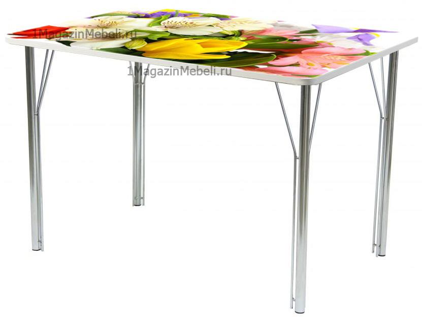 Стол обеденный не раздвижной 100х70 фотопечать (арт. М4300)