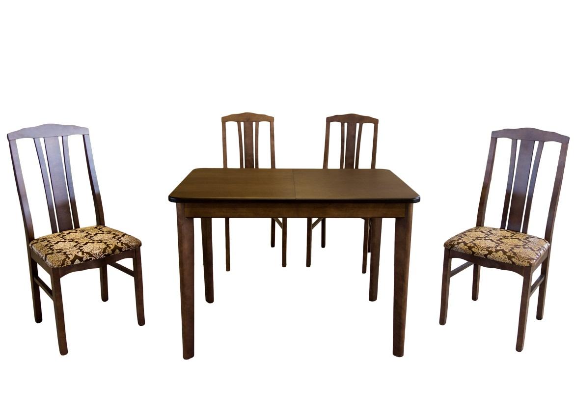 Обеденный комплект стол стулья, орех (арт. М5005)