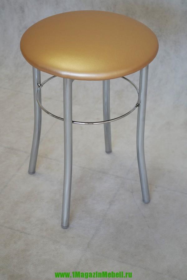 Табуретка для кухни, хром, цвет перламутровый (арт. М3125)