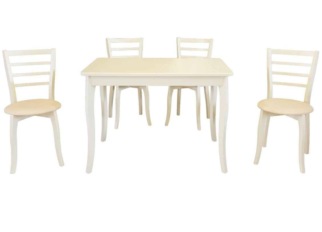 Стол 4 стула комплект из дерева (арт. М5001)