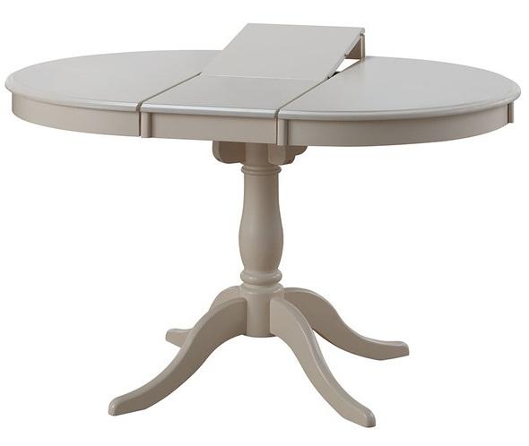 Стол 90 см. кремовый круглый-овальный, раздвижной, дерево (арт. М4276)