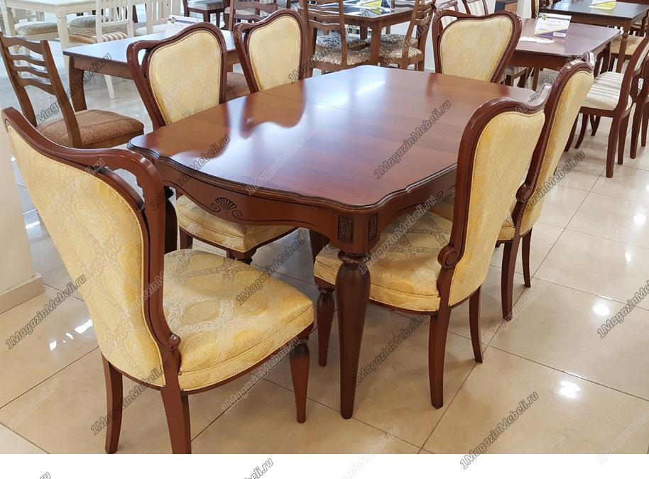 Стол Альт 66-11 цвет 15 классический для кухни раздвижной большой, орех (арт. М4258)