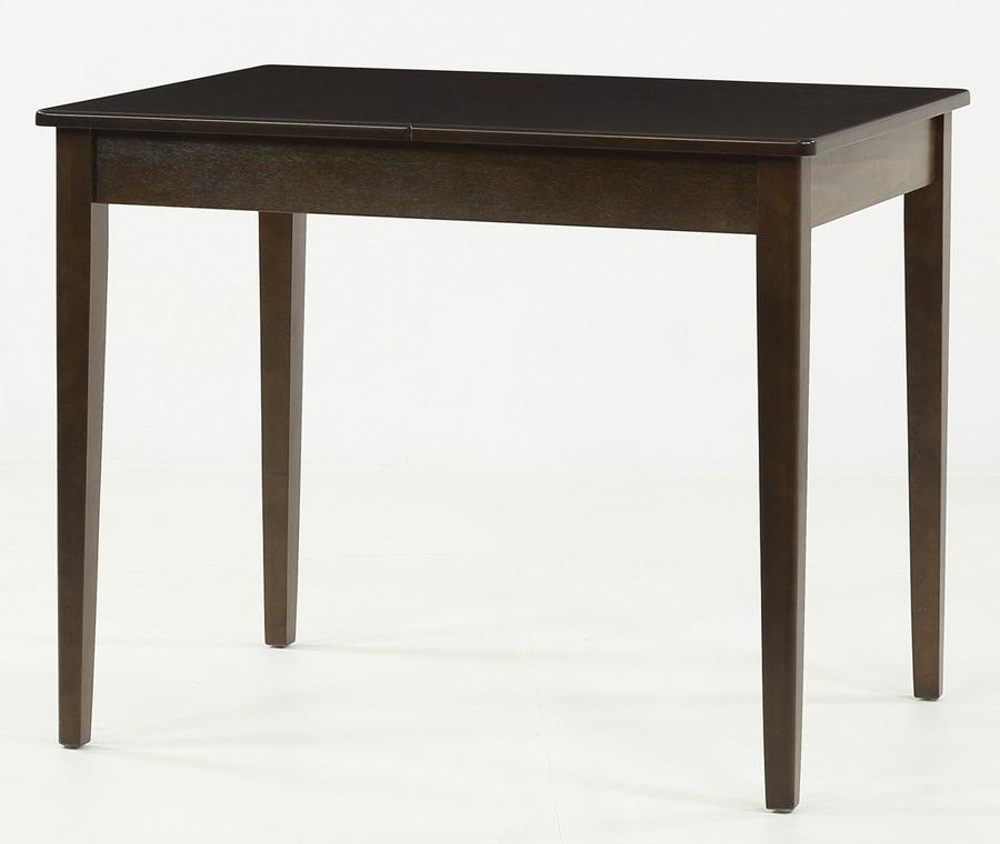 Стол кухонный прямоугольный венге на прямых ножках, раздвижной 95х70 см. (арт. М4339)