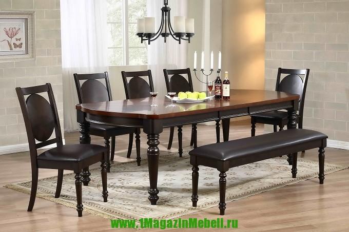 Стол обеденный B4499 орех черный / шоколадный (арт. М4159)