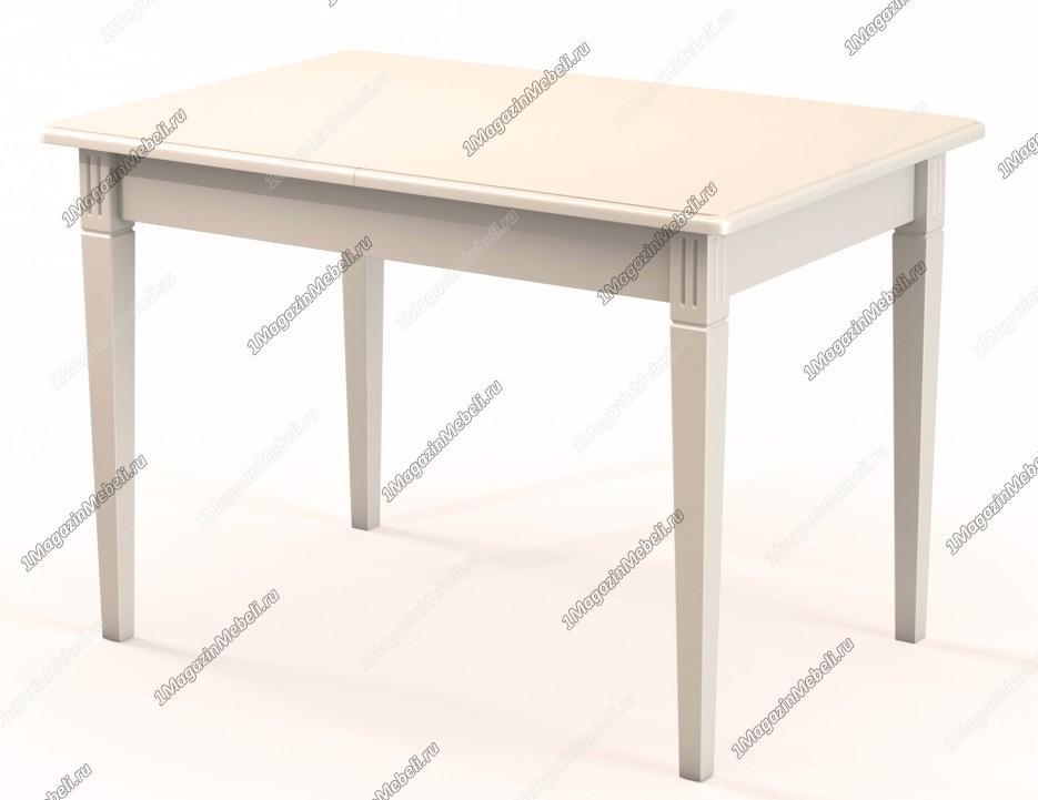 Стол прямоугольный, раздвижной 110-155 см., слоновая кость (арт. М4257)