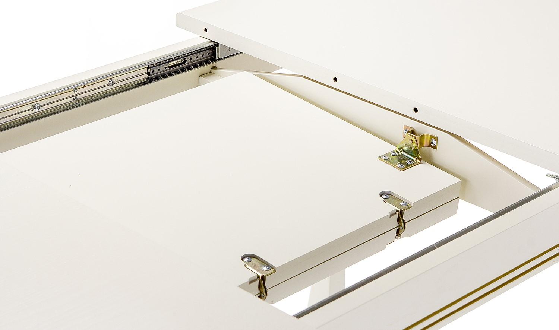 Стол обеденный слоновая кость патина золото СО-6 (арт. М4404)