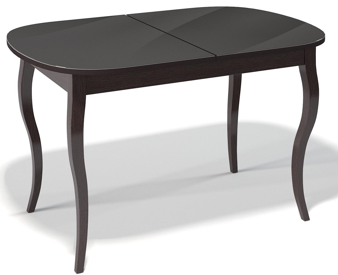 Стол кухонный венге стекло черное 130-170 см. (арт. М4193)