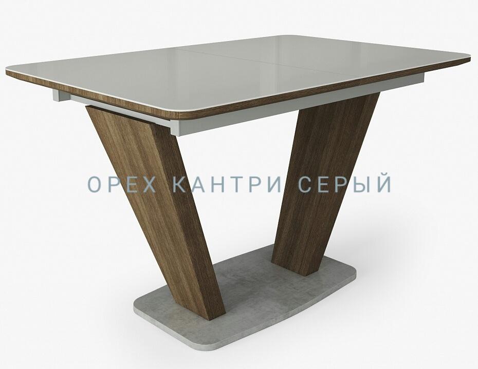 Современный стеклянный стол Прага 120х80 раздвижной (арт. М4385)