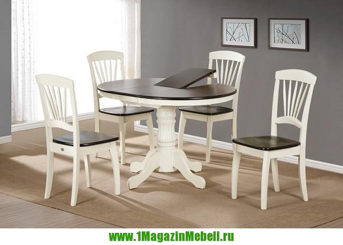 Стол кухонный деревянный R36 NF крем+капучино (арт. М4156)