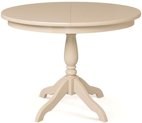 Овальный раздвижной стол 106х78 см. для кухни слоновая кость (арт. М4265)