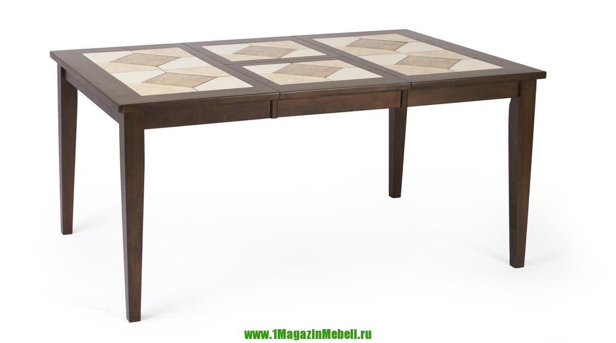 Стол кухонный деревянный раздвижной с плиткой, венге (арт. М4209)