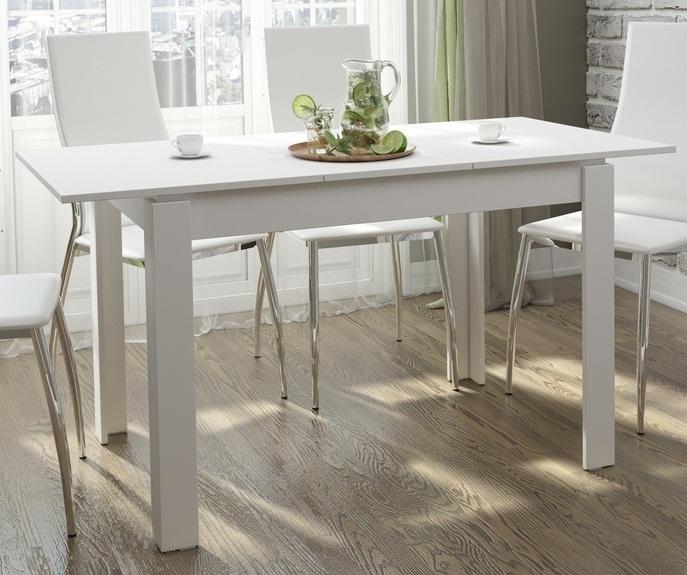 Стол кухонный недорого, белый 110 см., раздвижной (арт. М4367)