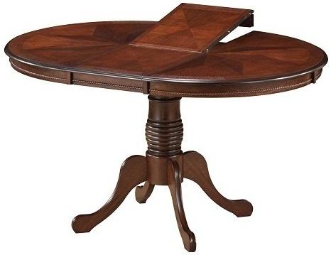 Круглый стол 106 см. раздвижной, для кухни, орех (арт. М4239)