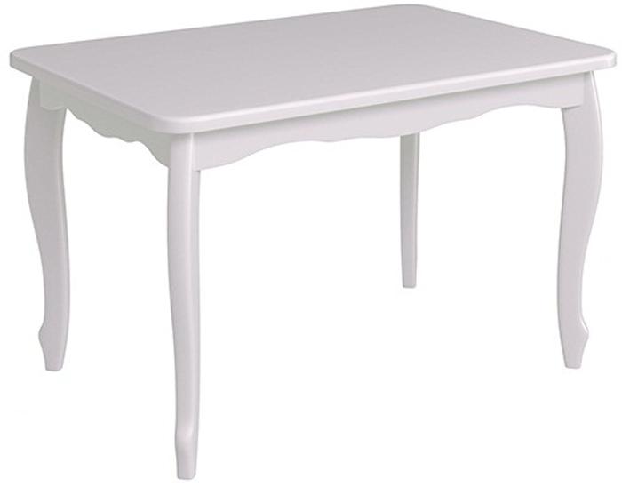 Стол белый раздвижной для кухни 110-155 см. (арт. М4290)