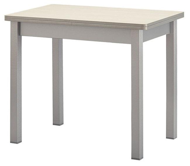Недорогой стол выбеленная береза, цвет шимо светлый 90 на 60 см. (арт. М4297)
