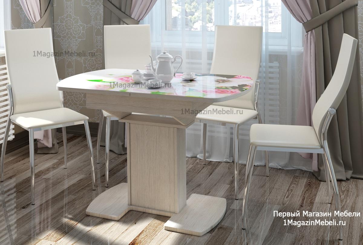Стол Портофино обеденный СМ ТД 105.01.11, раздвижной, стеклянный (арт. М4326)