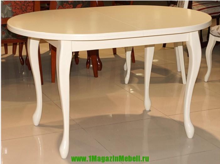 Обеденные столы: Тип - раскладные, Форма - овальная