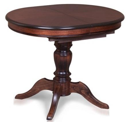 Стол овальный из дерева орех 100х76 см. раздвижной (арт. М4431)
