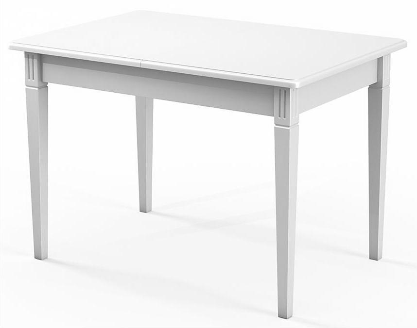 Стол обеденный прямоугольный белый 110х75 см. раздвижной (арт. М4247)