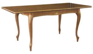 Стол со-8 коричневый деревянный с узорами на ножках м4400