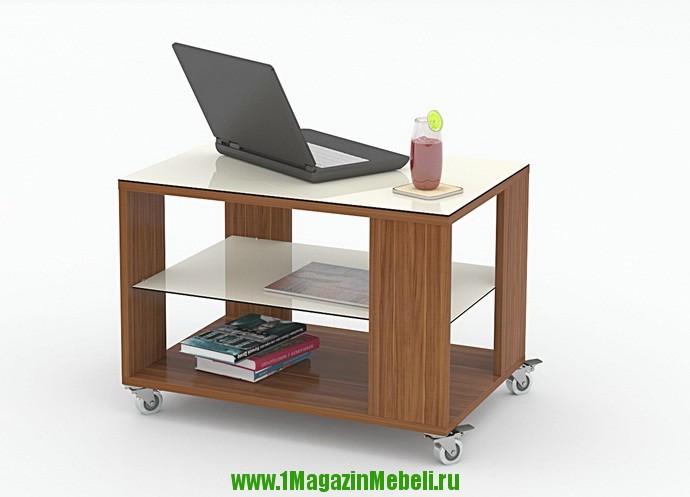 Журнальный столик на колесиках сполочкой KENNER 5 (арт. М1064)