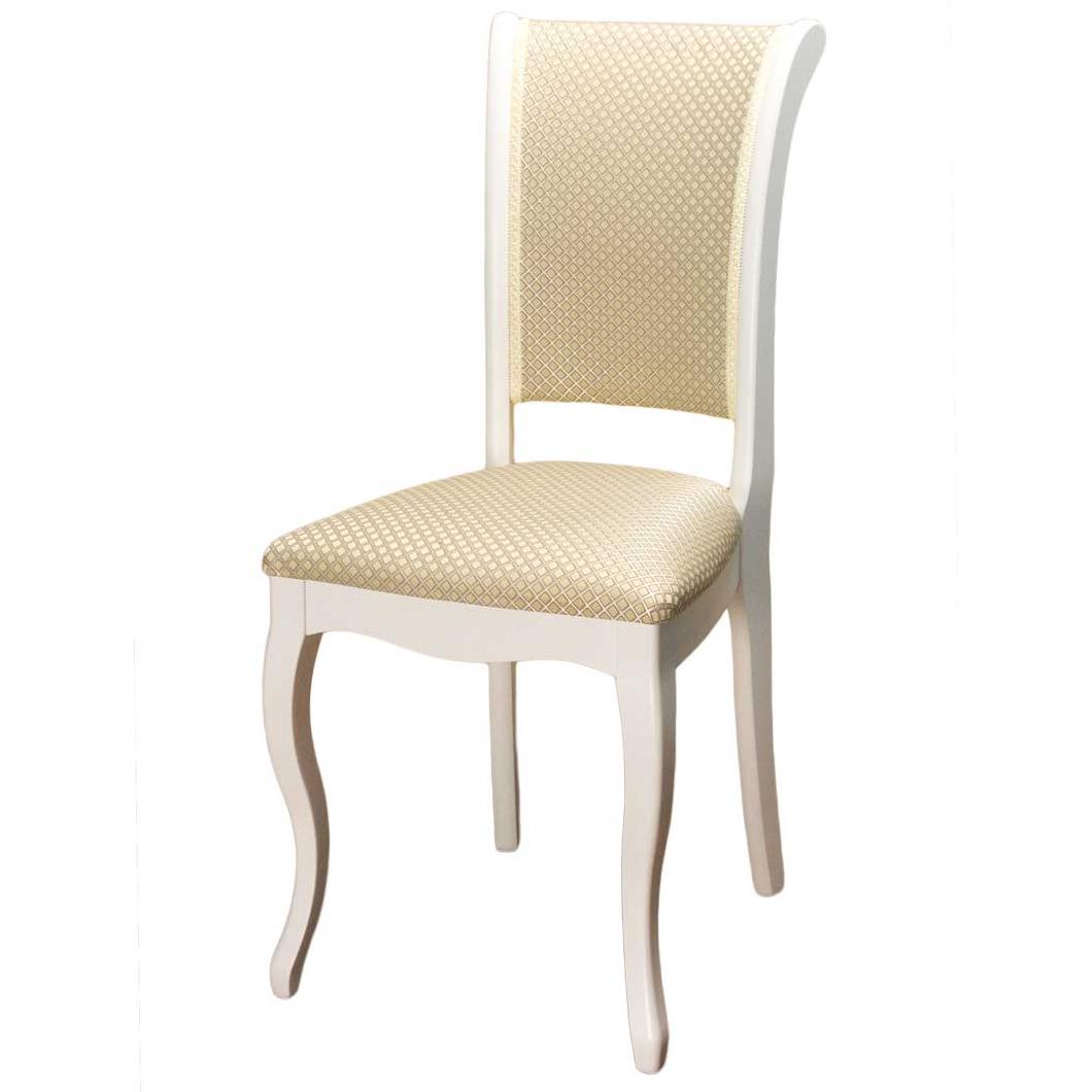 Деревянный стул Фабиано белый для кухни с мягким сидением (арт. М3272)