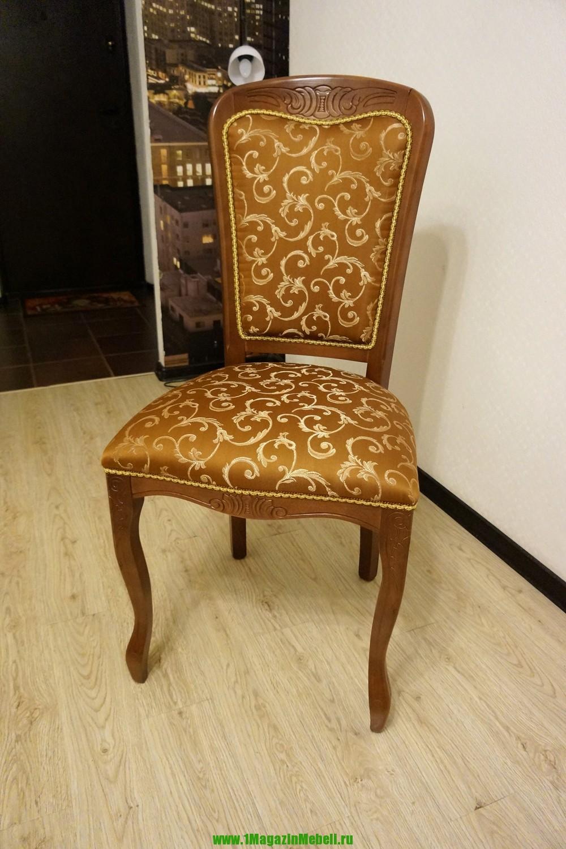Стул деревянный С 8 прато коричневый, ткань (арт. М3004)
