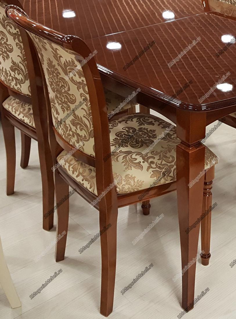 Изящный глянцевый стул из натурального дерева (арт. М3248)