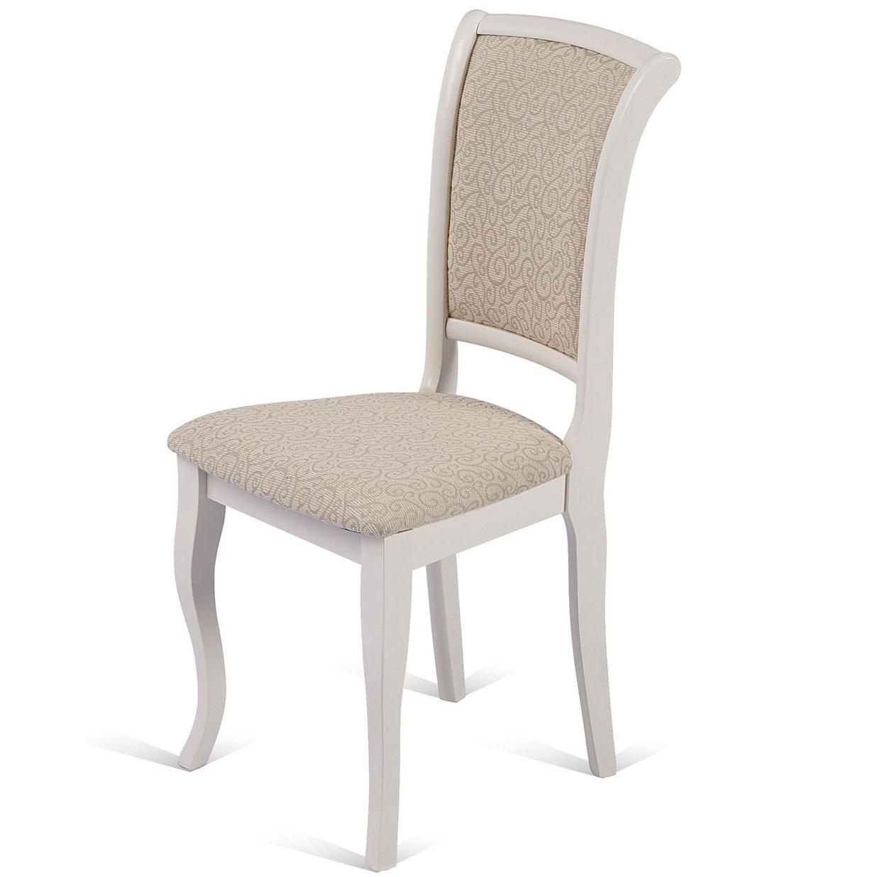 Деревянный стул на кухню цвет слоновая кость BUTTER WHITE (арт. М3241)