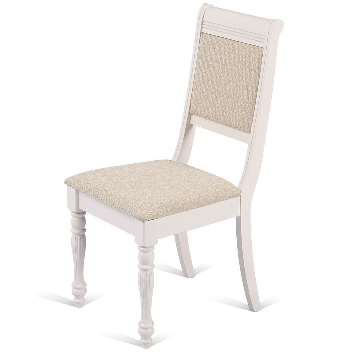 Кухонный стул из массива дерева — слоновая кость BUTTER WHITE (арт. М3242)