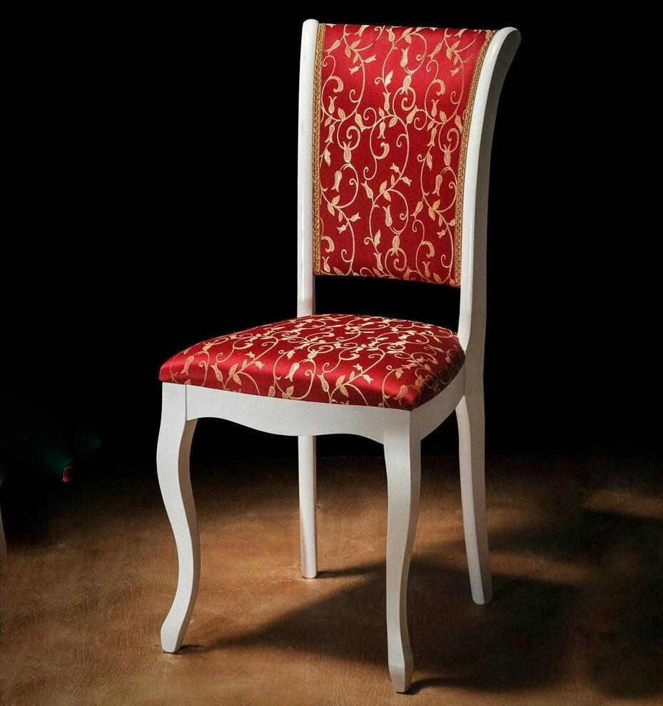 Стул для кухни из дерева красно-белый (арт. М3279)