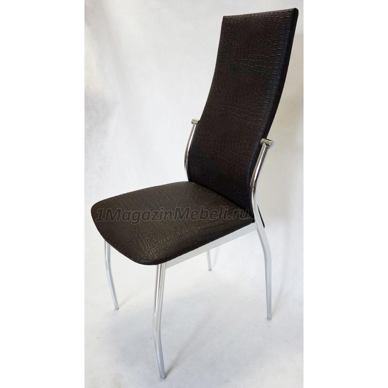Комфортный стул для кухни, темно-коричневый крокодил (арт. М3215)