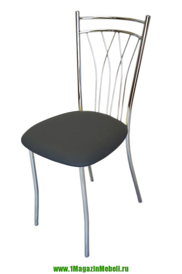 Стул для кухни, металлический цвет серый, хром (арт. М3178)