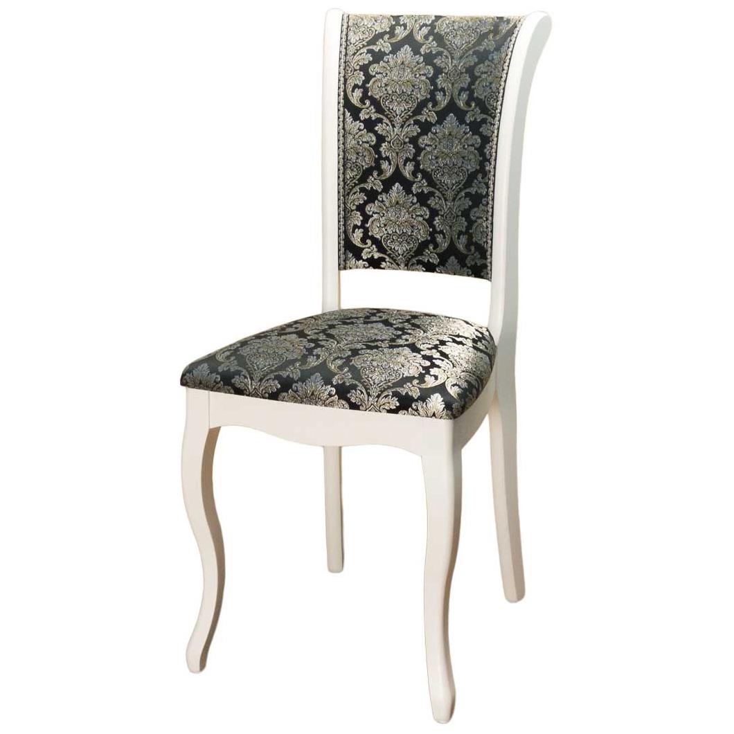 Классический стул для кухни из дерева белый С-6 (арт. М3275)