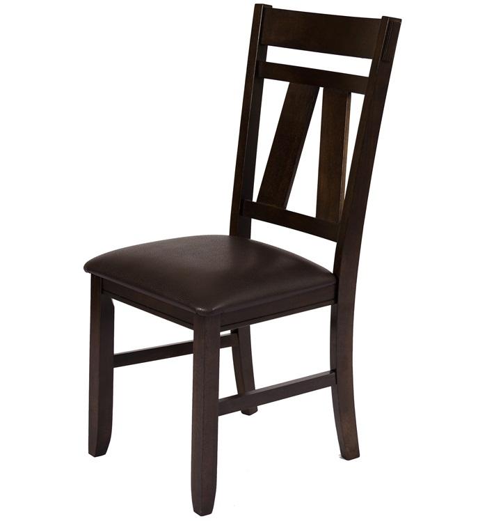 Надежный стул из дерева для кухни, венге, экокожа (арт. М3212)