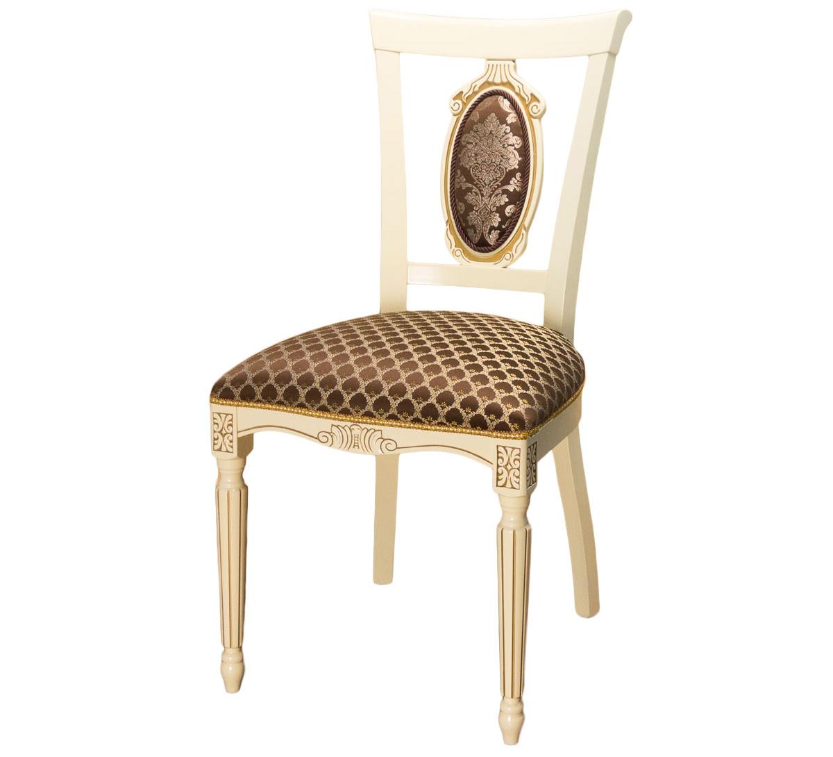 Бежево-коричневый стул из дерева (арт. М3342)