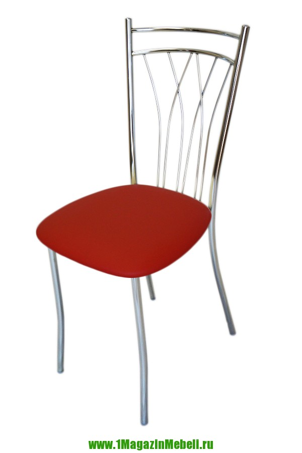 Стулья для кухни красного цвета, металлические (арт. М3175)