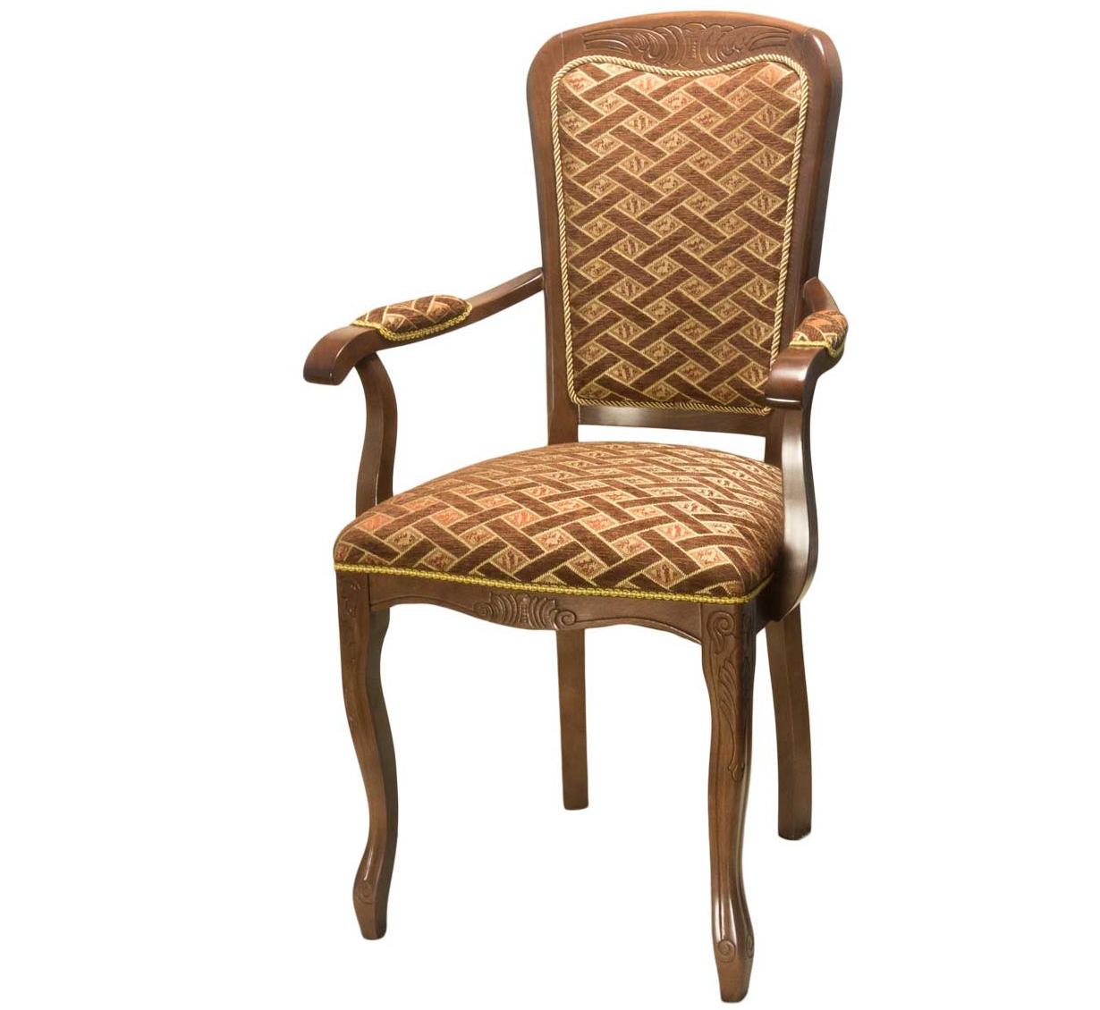 Стул кресло с подлокотниками орех С-8 (арт. М3343)