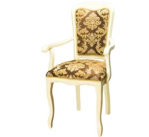 Стул кресло с подлокотниками слоновая кость м3347