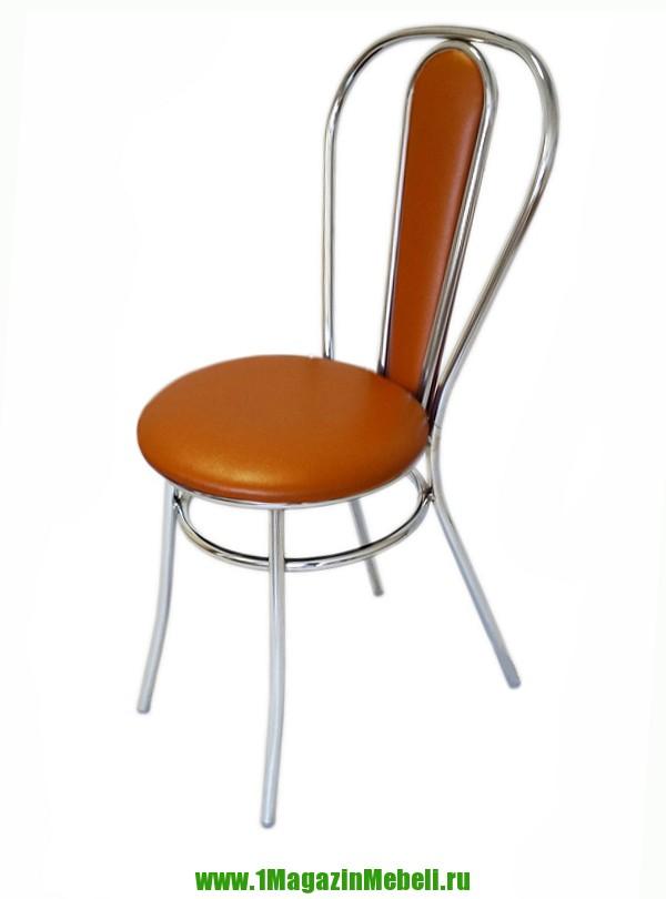 Стул металлический оранжевый для кухни, Венский (арт. М3186)