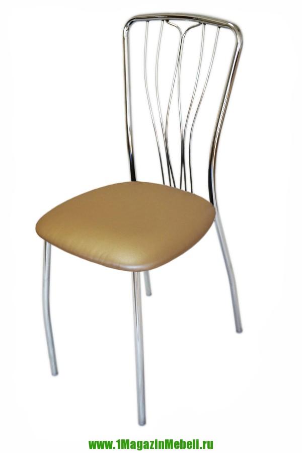 Стул для кухни, цвет перламутровый, металл хром (арт. М3144)