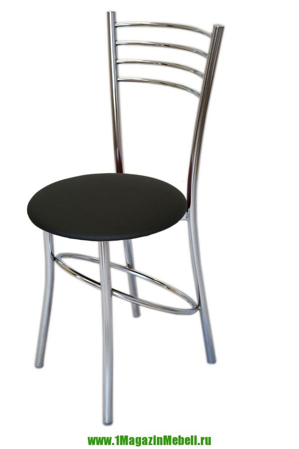 Стул для кухни металлический, черный, круглый (арт. М3204)