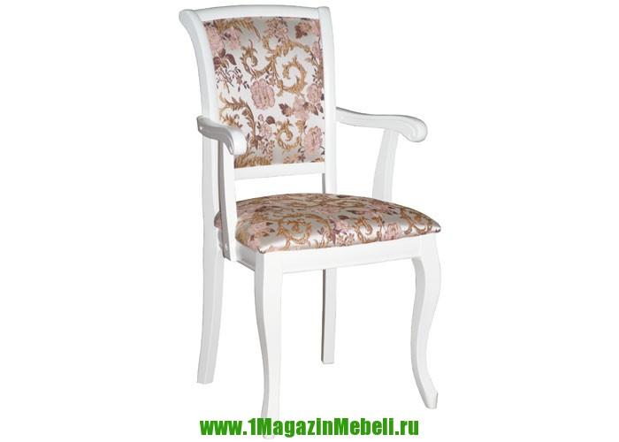 Стул кресло с подлокотниками Сибарит 16 белый 1,163 (арт. М3078)