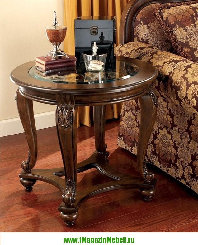 Т499-6 придиванный журнальный столик, круглый (арт. М1079)