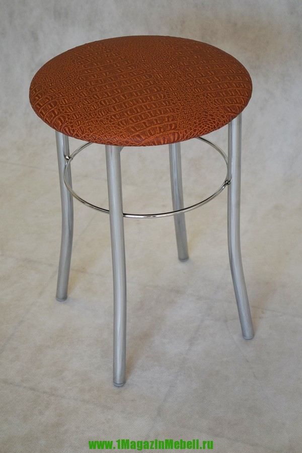 Табурет кухонный с круглым сиденьем, цвет терракот (арт. М3107)