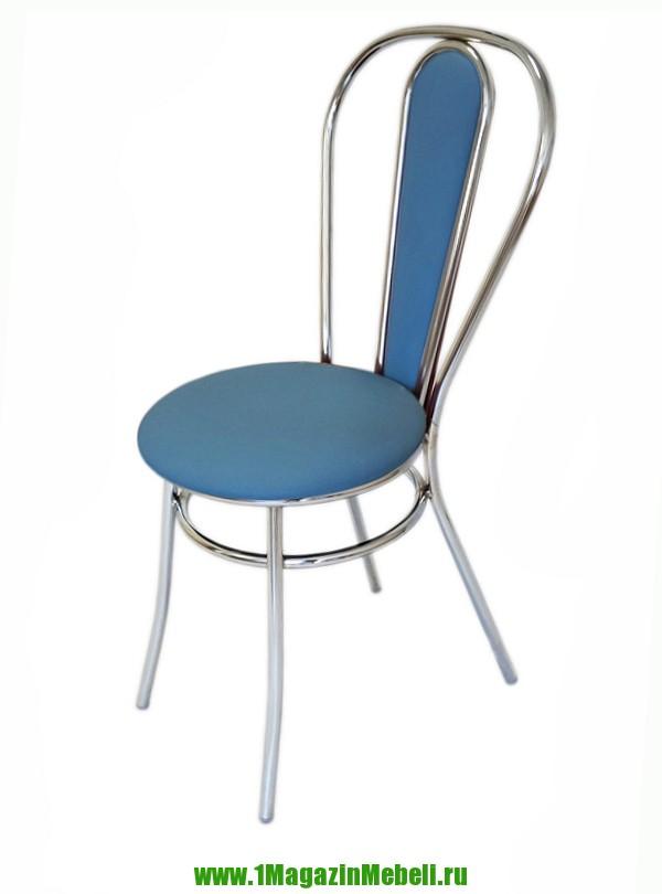Стул для кухни металлический, Венский, голубой (арт. М3183)