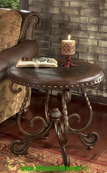 Журнальный столик Т382-6, круглый, деревянный (арт. М1120)